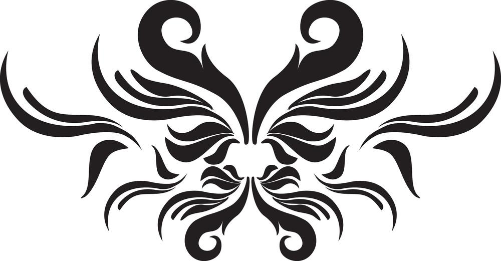 Decor Swirl Elements Illustration