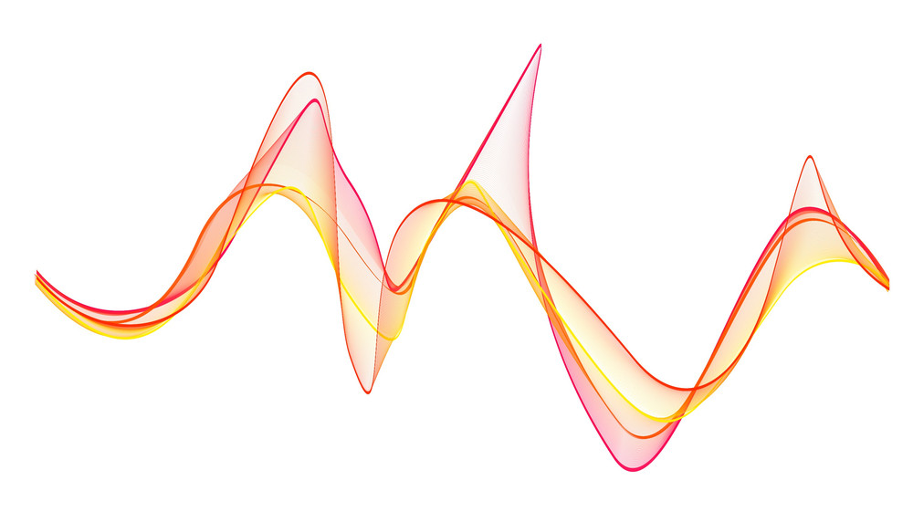 Decor Wavy Lines Vector Illustration