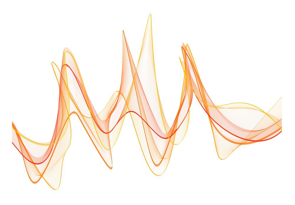 Decor Wavy Lines Vector