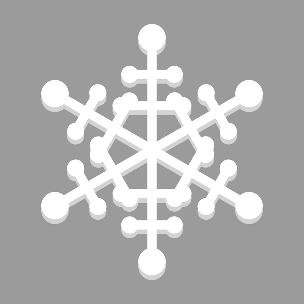 Decor White Snowflake