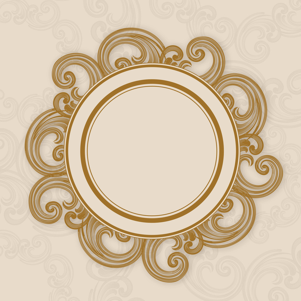 Decorated Circle Photo Frame
