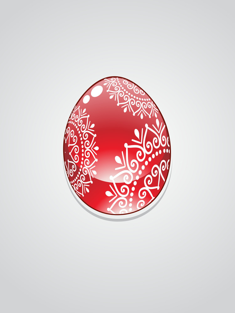 Decorated Egg With Background