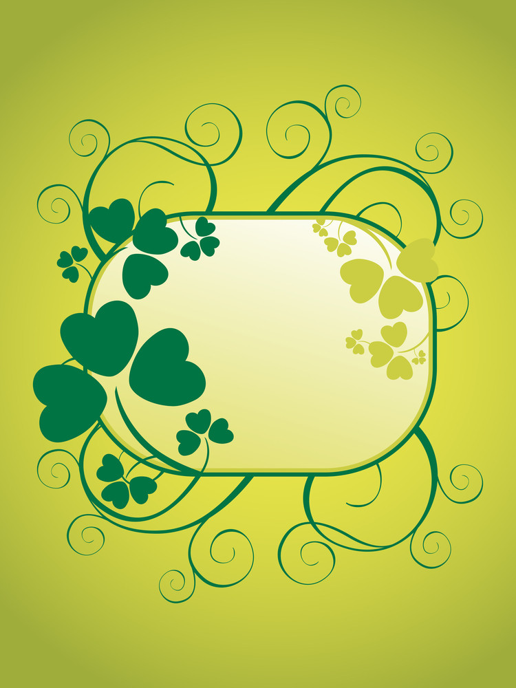 Decorated Frame For Happy St Patrick Day