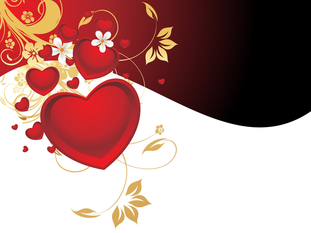 Decorated Heart Background