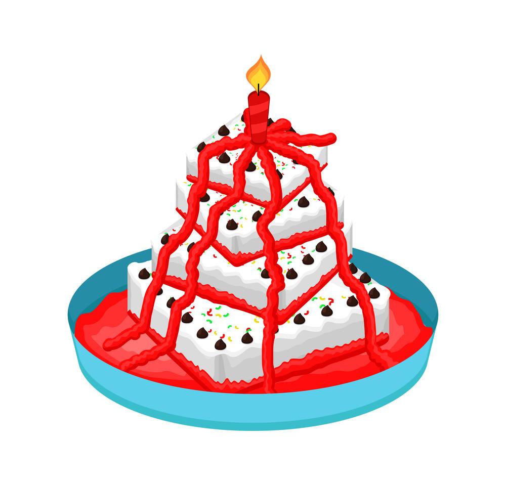 Decorative Anniversary Cake Design