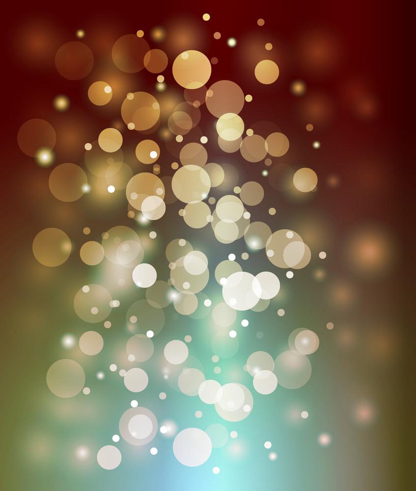 Decorative Christmas Lights Background