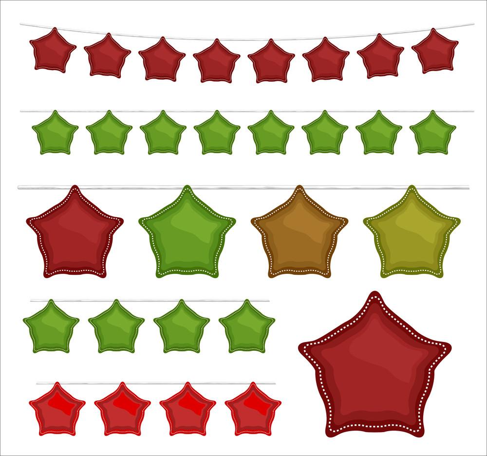 Decorative Christmas Stars Elements