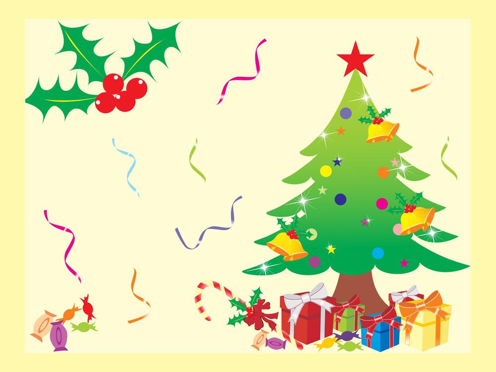 Decorative Christmas Tree With Many Gift Box