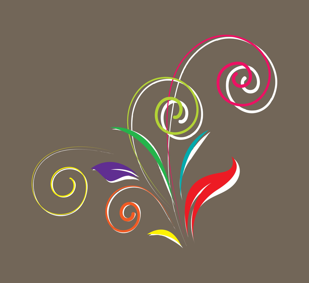 Decorative Colored Floral