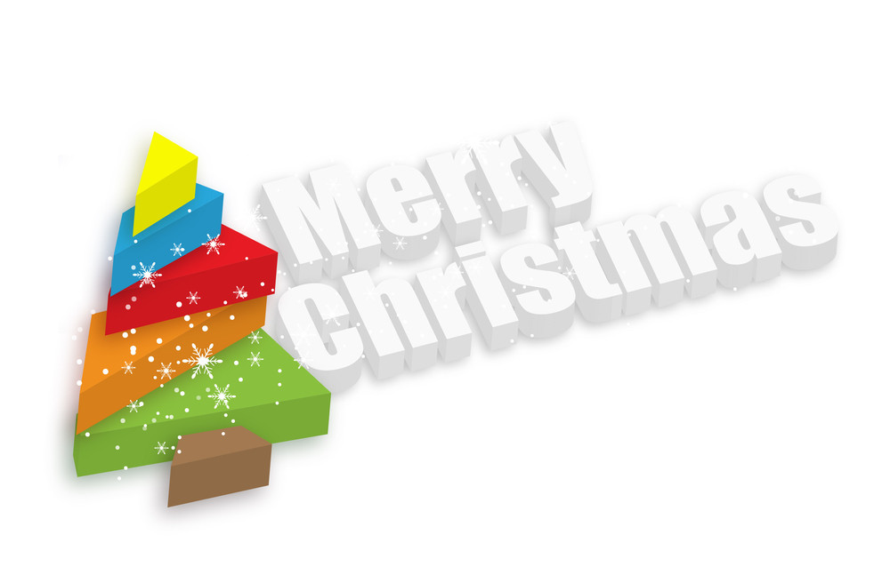 Decorative Colorful Christmas Tree