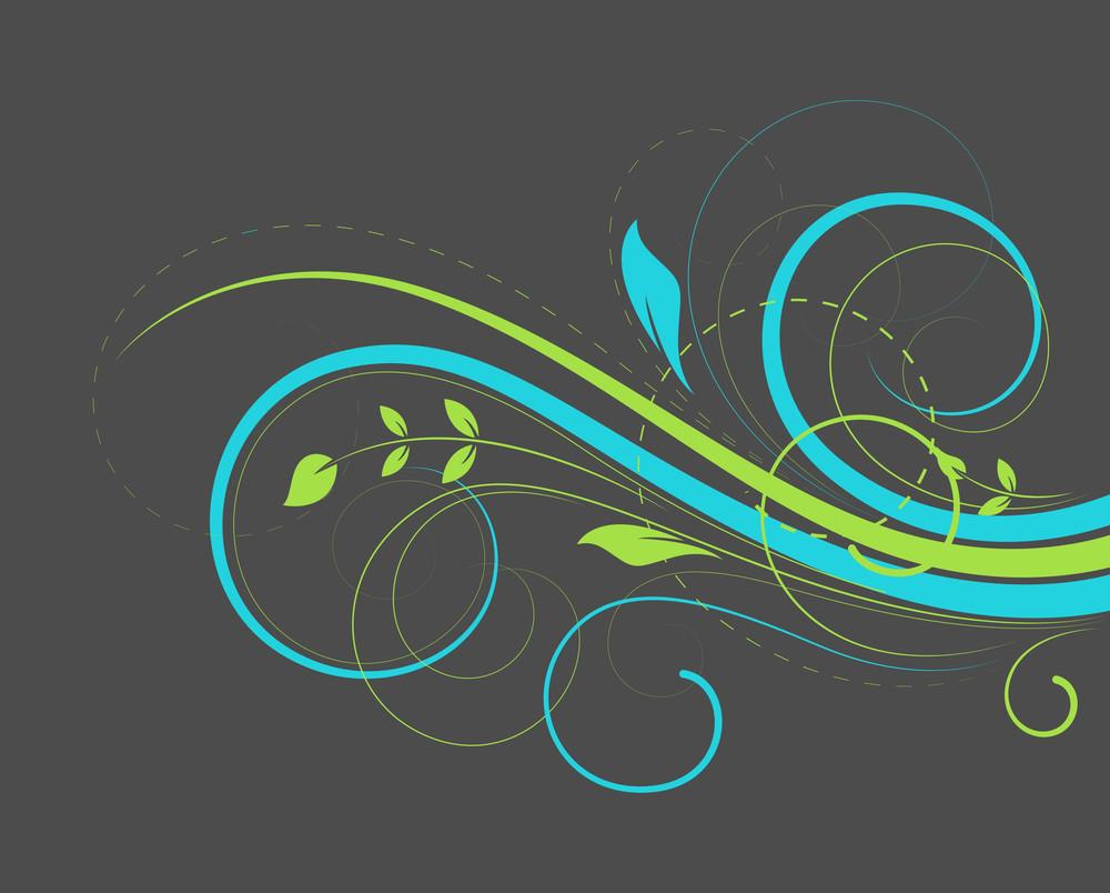 Decorative Colorful Floral Design