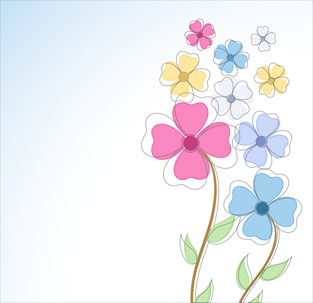Decorative Colorful Flowers