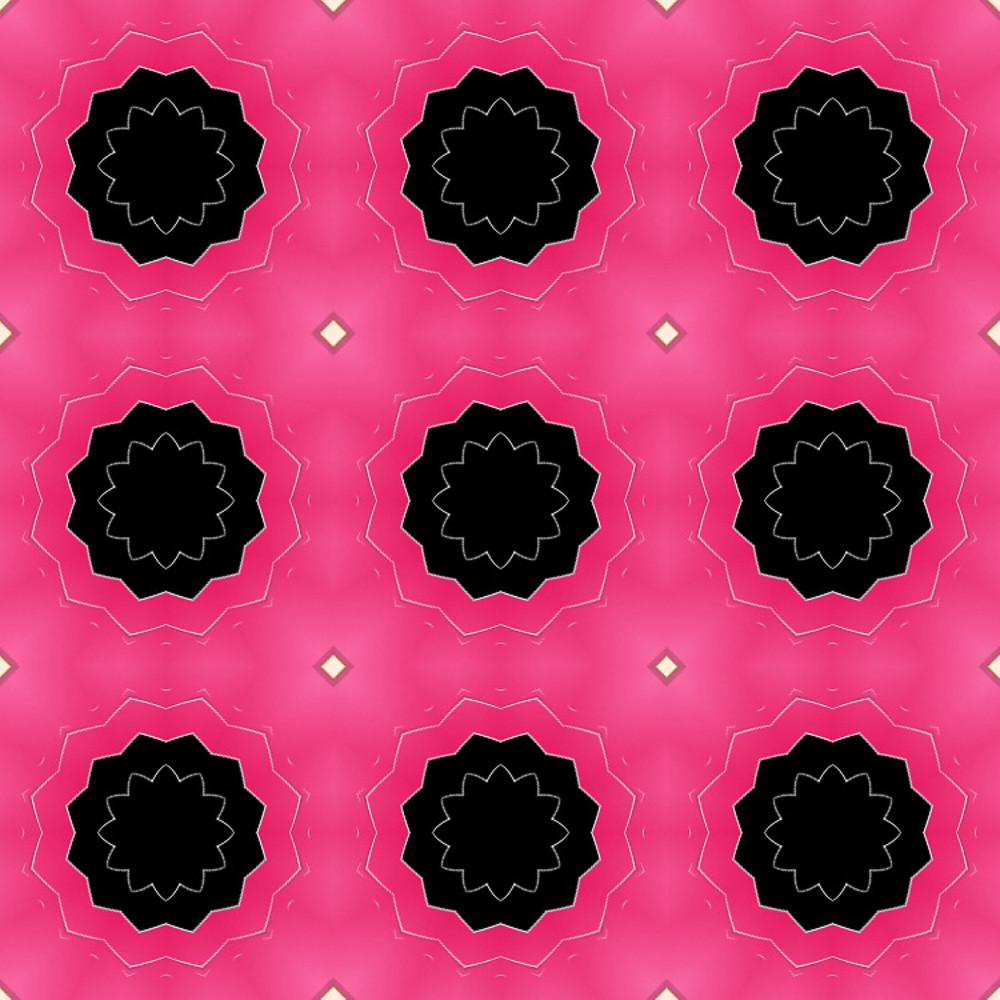 Decorative Dark Floral Pattern