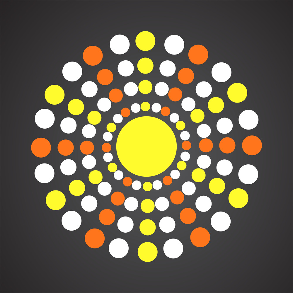 Decorative Dotted Sun Design