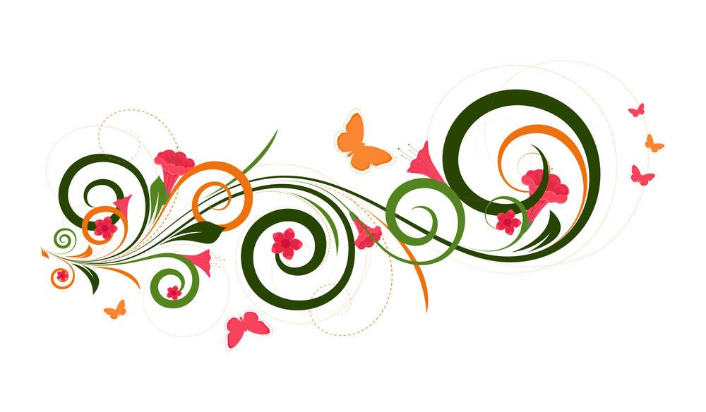 Decorative Floral Design Art
