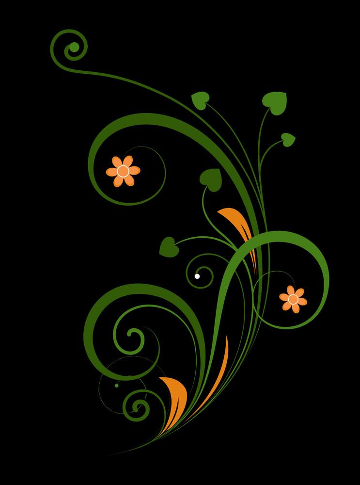 Decorative Floral Design Elements Background