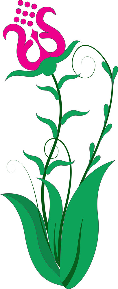 Decorative Floral Elements Illustration