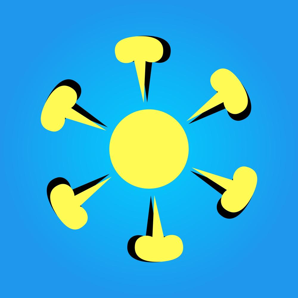 Decorative Floral Sun Design