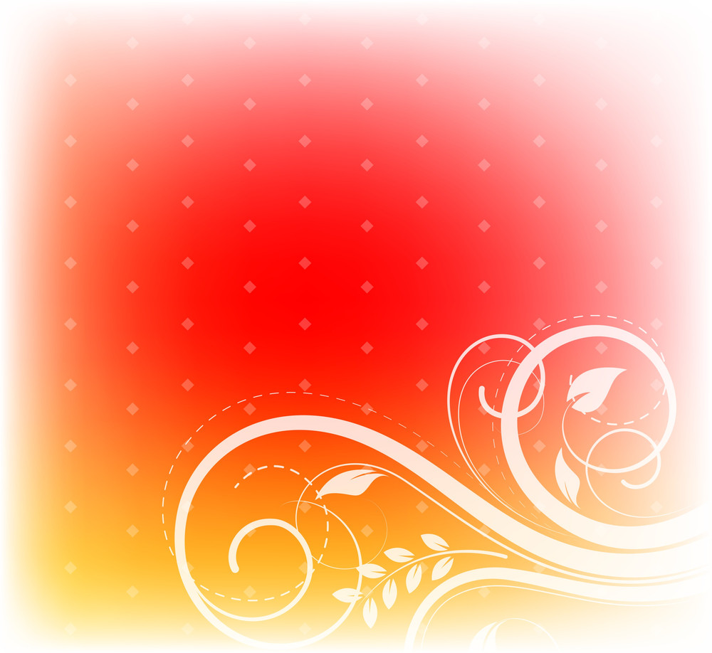 Decorative Flourish Abstract Background
