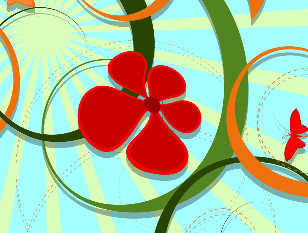 Decorative Flourish Background