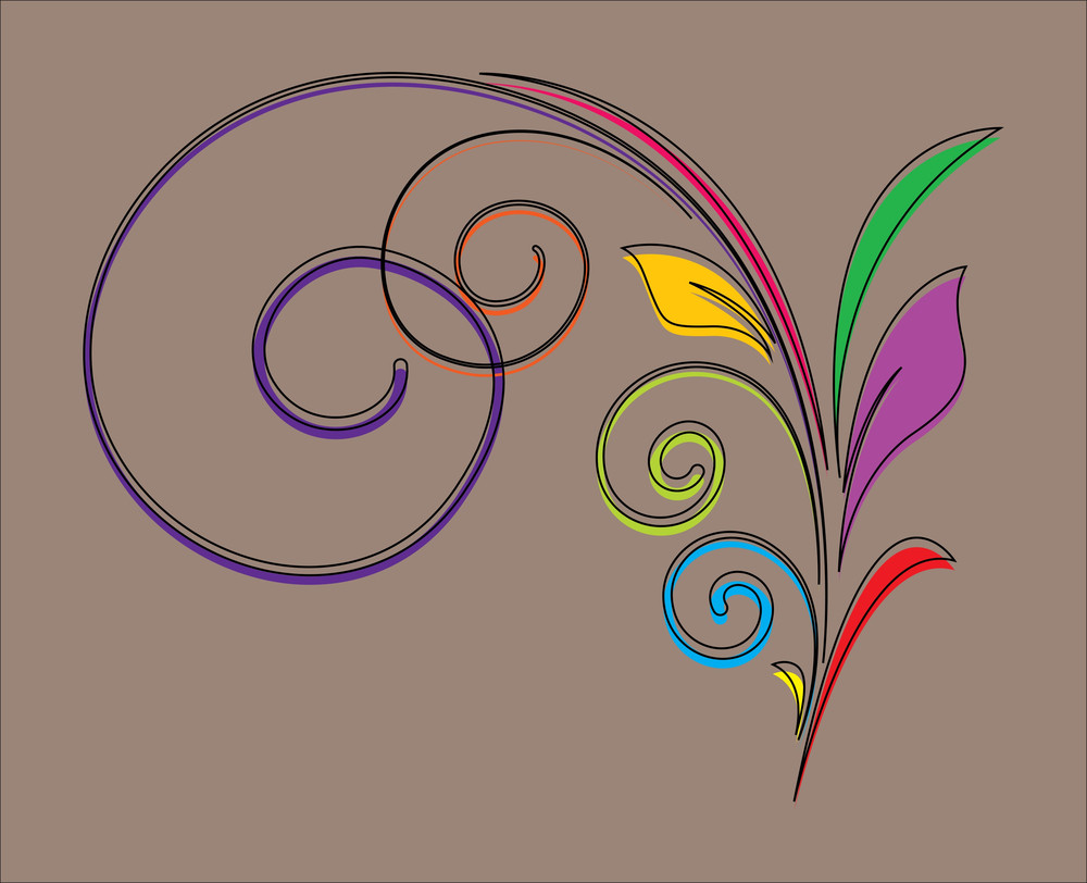 Decorative Flourish Design Element