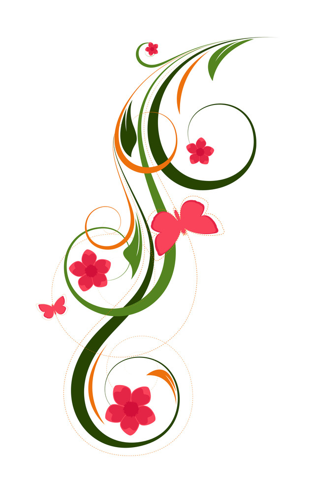 Decorative Flourish Design Elements Vector