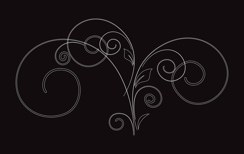 Decorative Flourish Design Vector Shape
