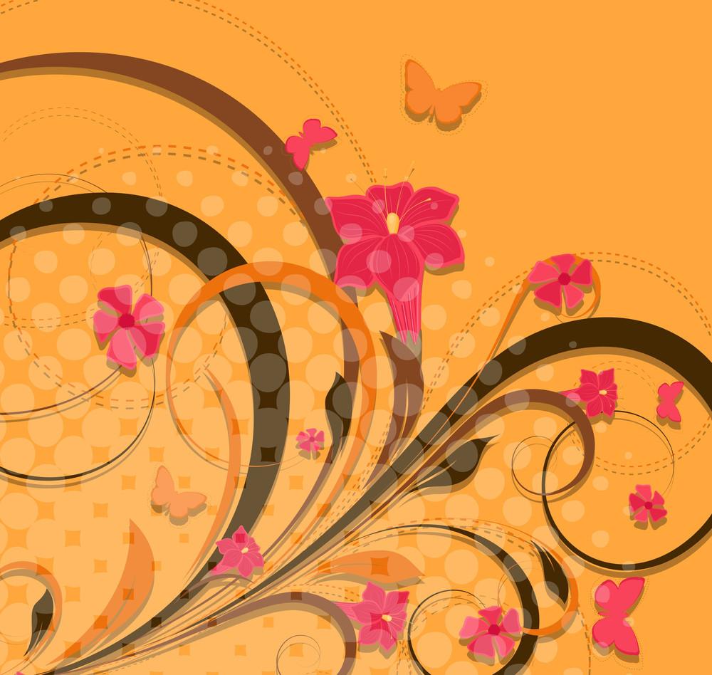 Decorative Flourish Halftone Background