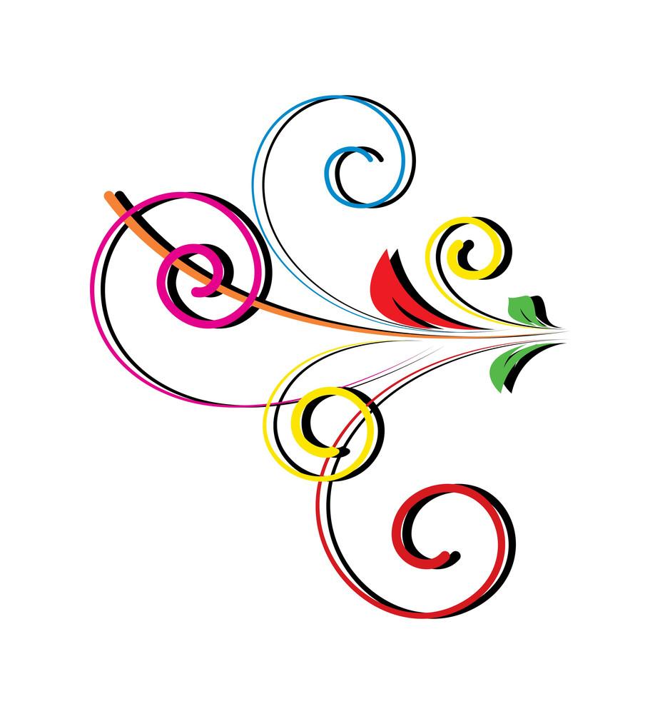 Decorative Flourish Silhouette Vector