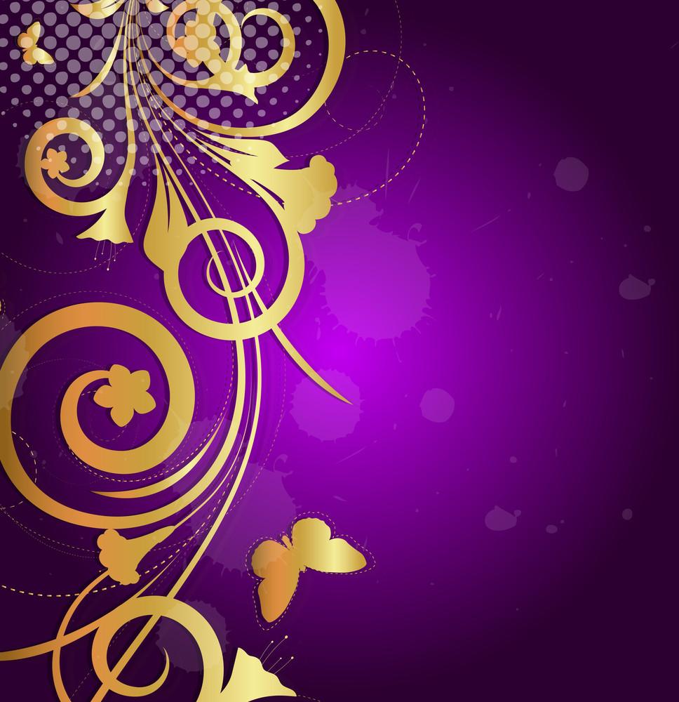 Decorative Flourish Vector Background