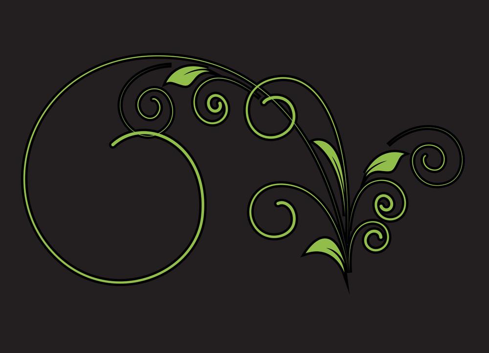 Decorative Flourish Vector Shape Design