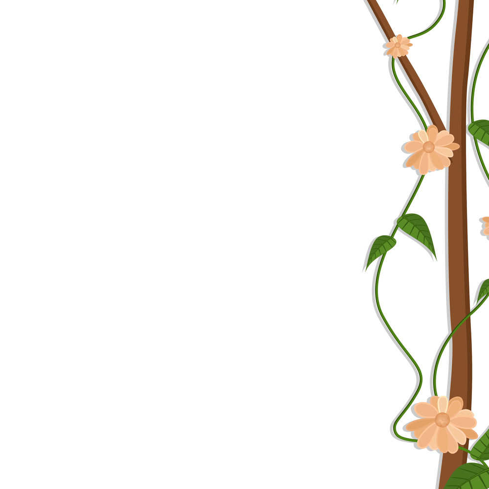 Decorative Flowers Branch Holiday Background