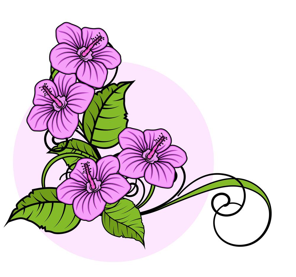 Decorative Flowers Corner Frame Royalty-Free Stock Image