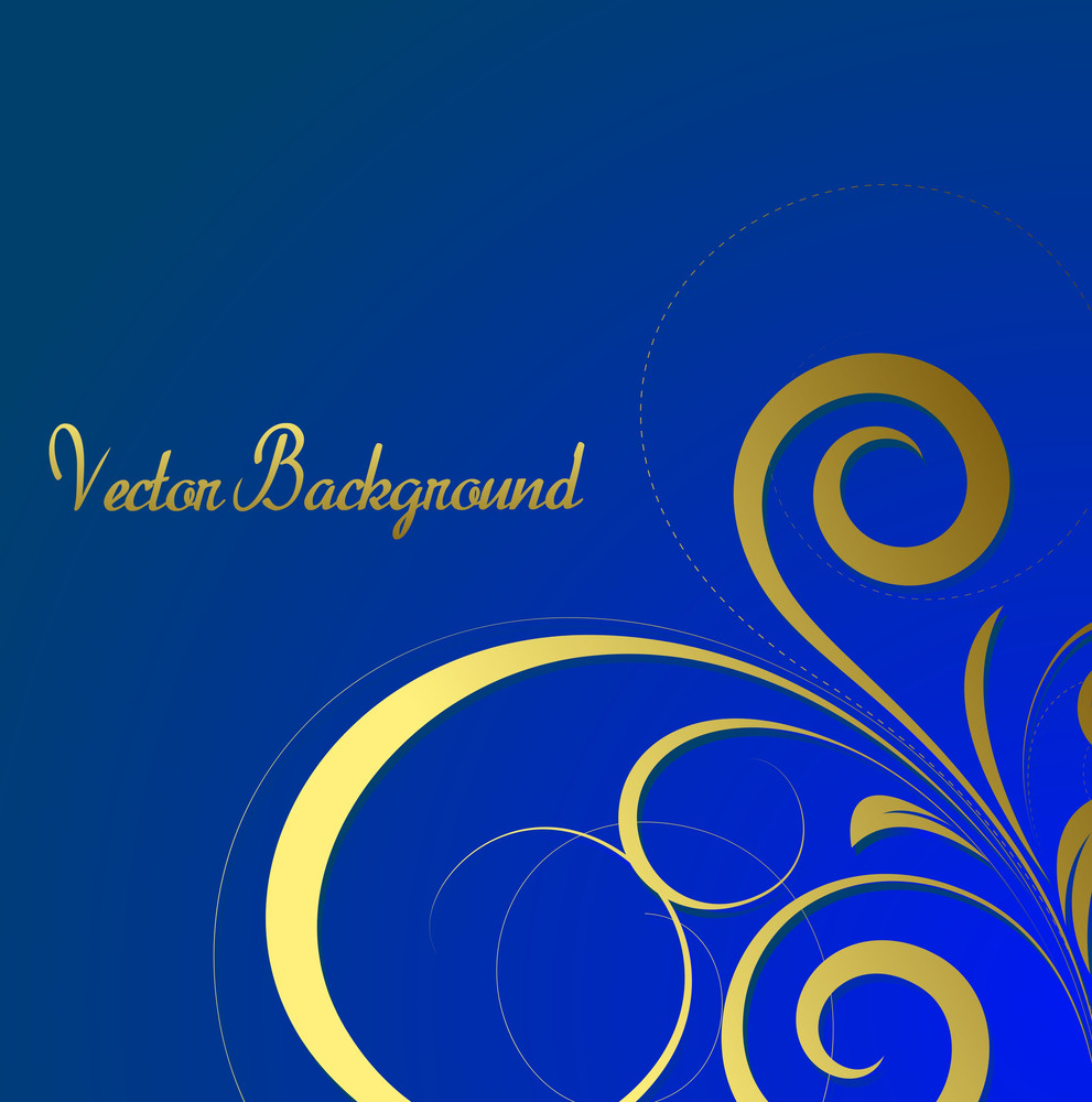 Decorative Golden Floral Vector Background