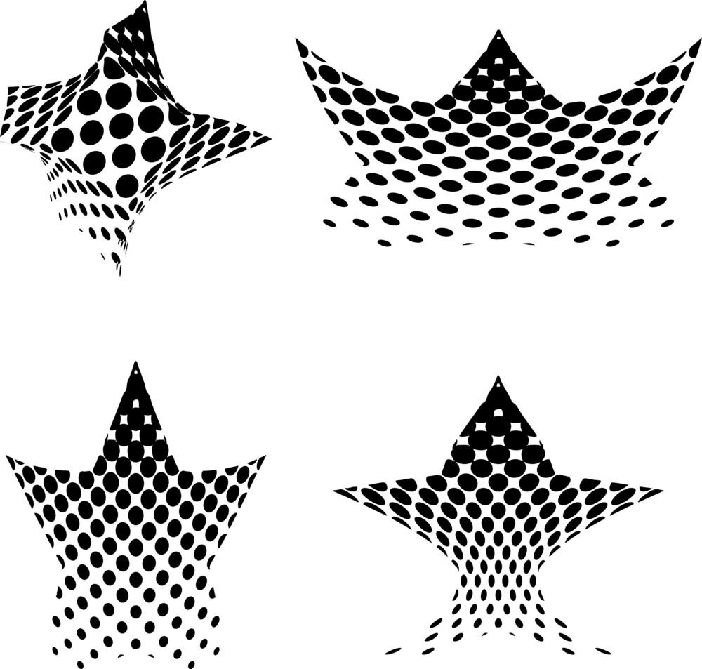 Decorative Halftone Stars