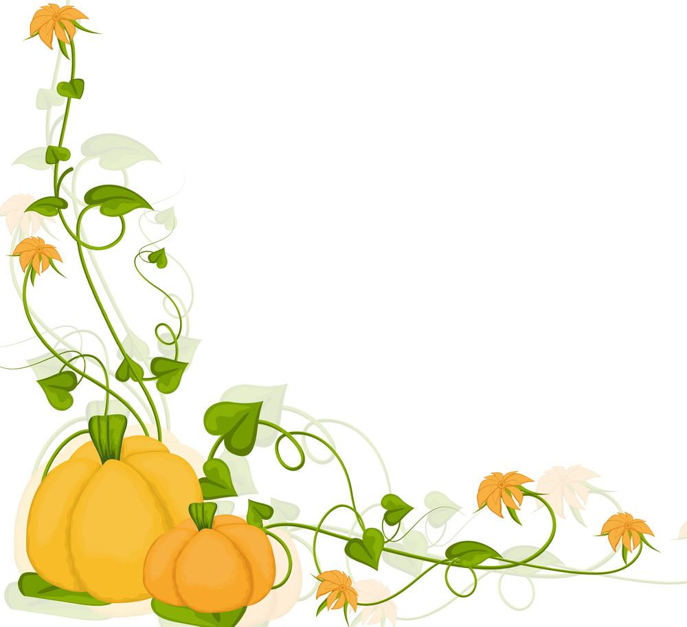 Decorative Halloween Pumpkin Background