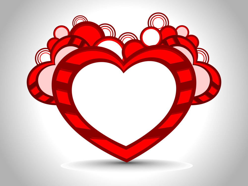 Decorative Heart Shape With Copy Space For Text. Vector Illustration.