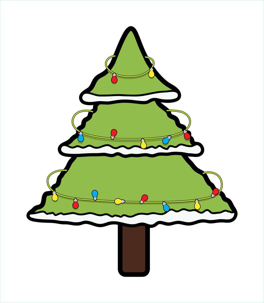 Decorative Lights Christmas Tree Design