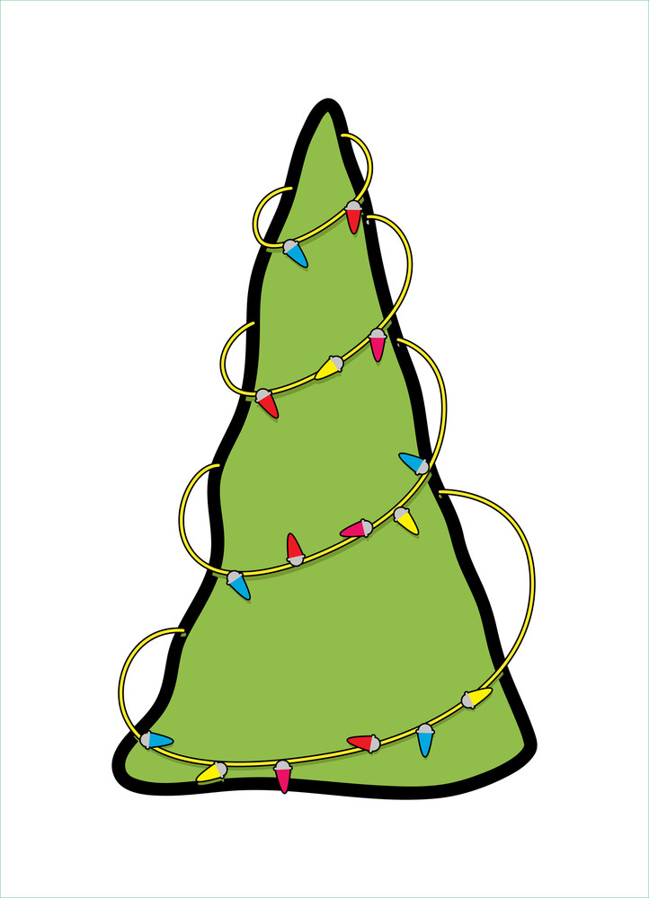 Decorative Lights Christmas Tree Graphic