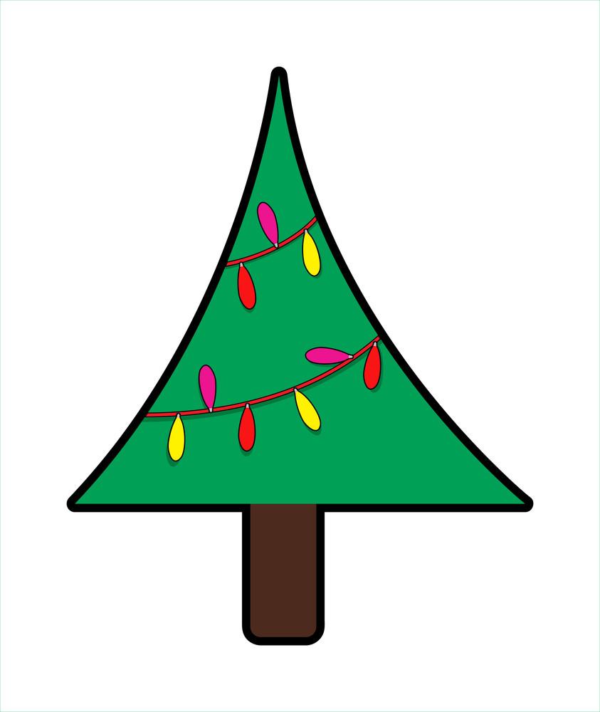 Decorative Lights Christmas Tree