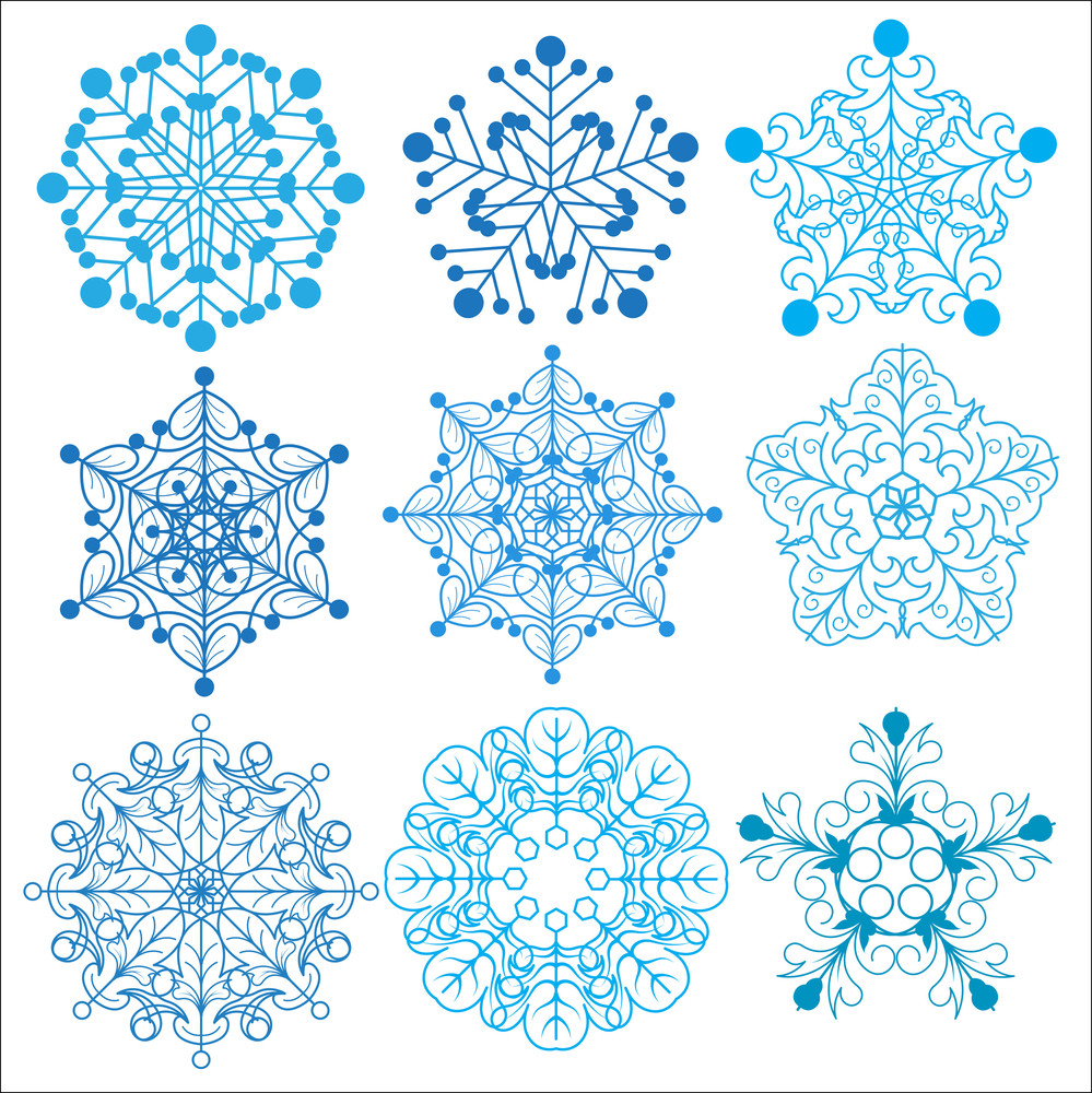 Decorative Ornament Snowflakes Set