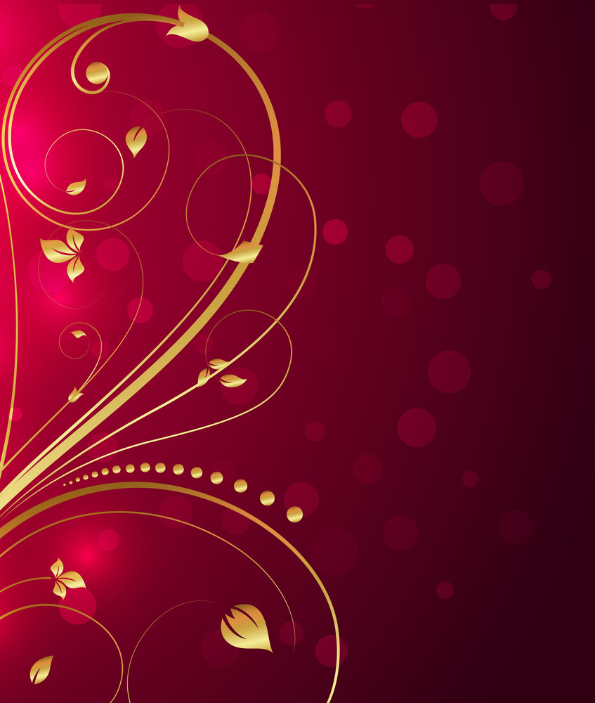 Decorative Ornamental Flourish Background