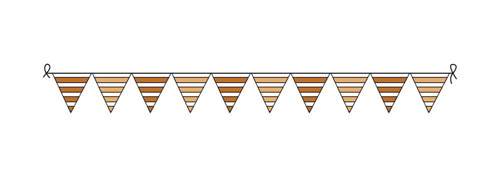 Decorative Paper Flags Elements Vector
