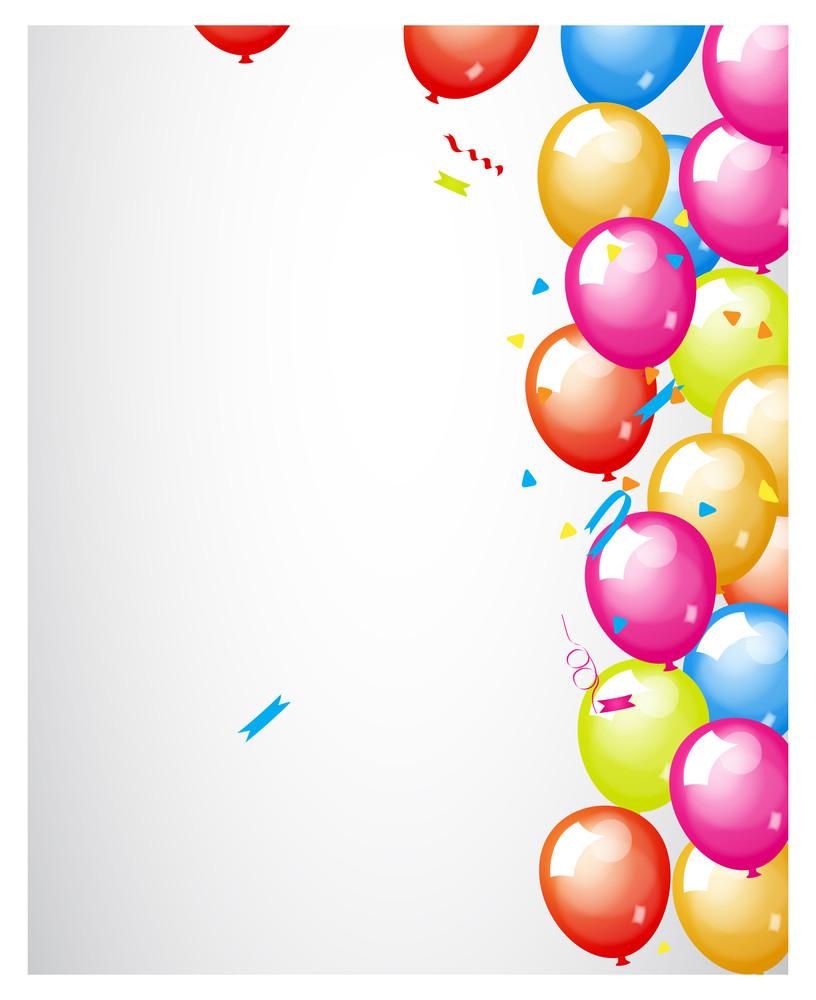 Decorative Party Balloons Backdrop