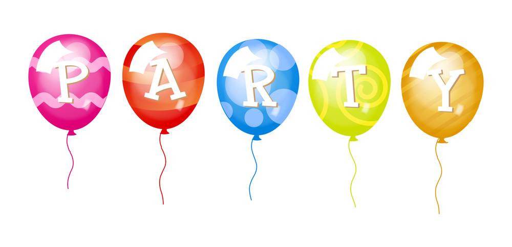 Decorative Party Balloons Illustration