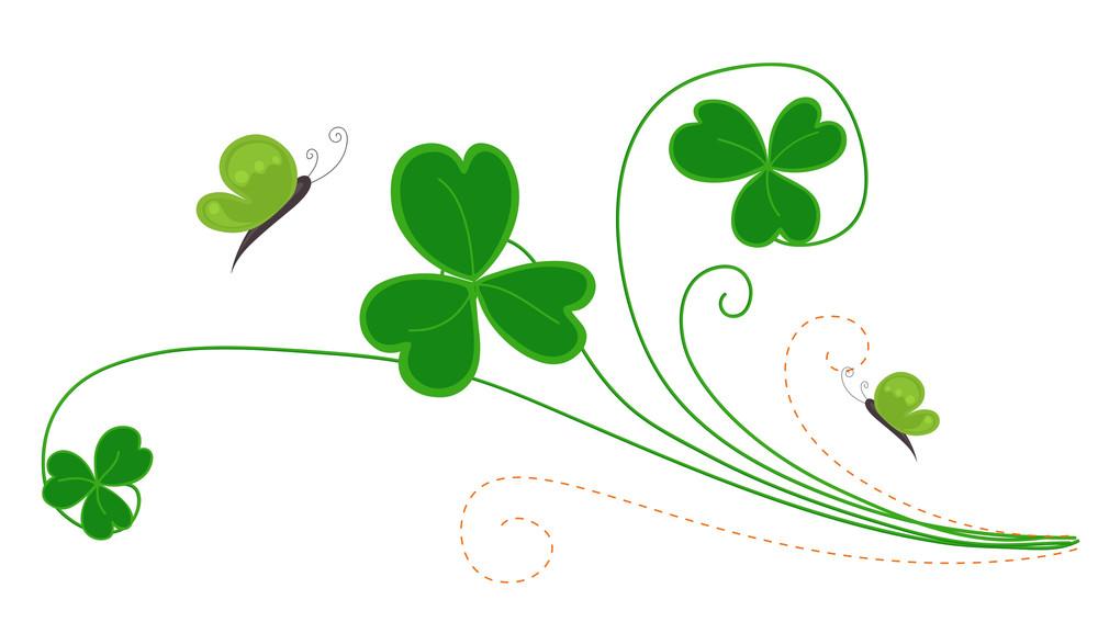 Decorative Patrick's Day Flourish Element