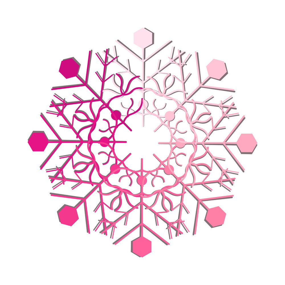 Decorative Pink Snowflake