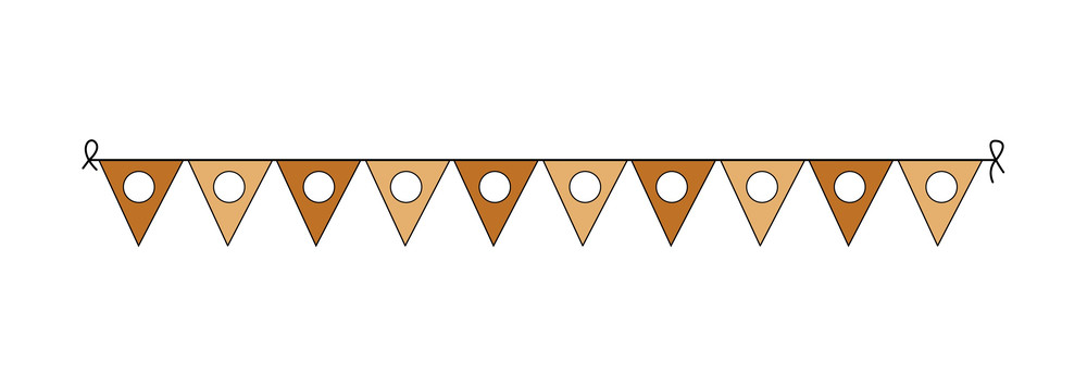 Decorative Retro Paper Flags Elements