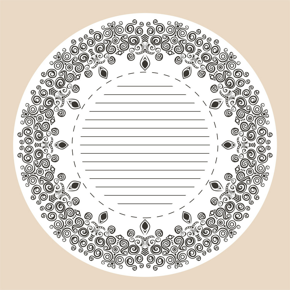 Decorative Round Frame.