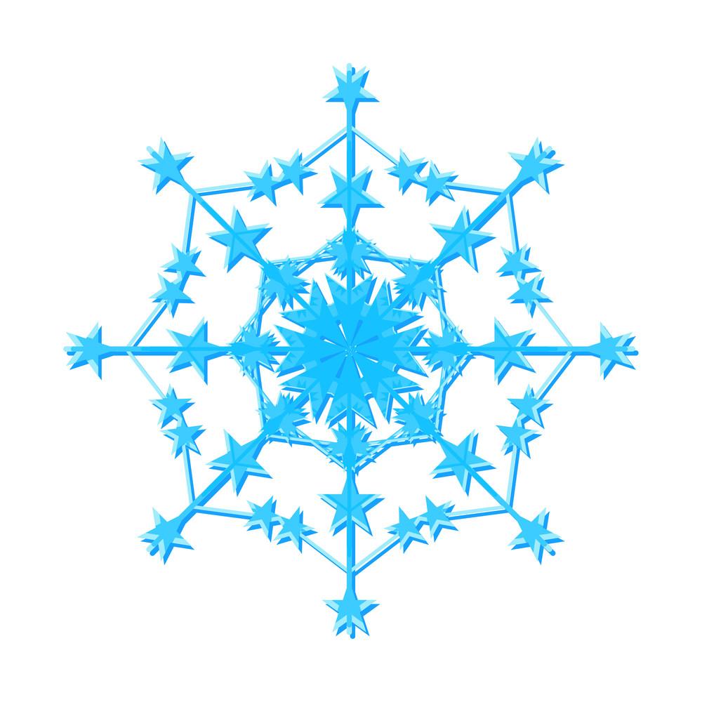 Decorative Snowflake Design Art